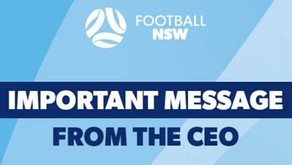 Important message from the CEO of Football NSW - Tuesday 14 July 2020