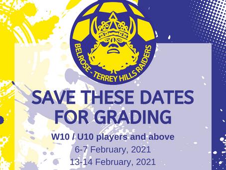 2021 GRADING DATES ANNOUNCED