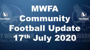 MWFA Community Football Update - published Friday 17 July