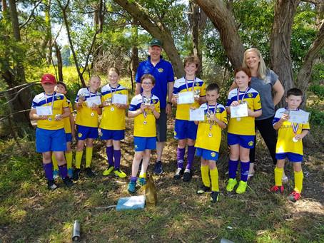 Sub junior trophy winners and MWFA medallions