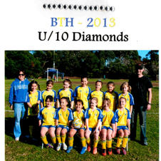 The BTH U10 diamonds 2013.  All girls played up a year to be able to play in the womens comp