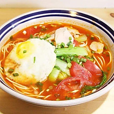 D5. Tomato Noodle with Fried Egg