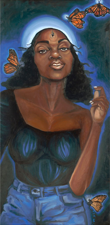 Project Get Free - projectgetfree Tiffany Conway My Thoughts becomes things oil on canvas Oakland Bay Area visual artist