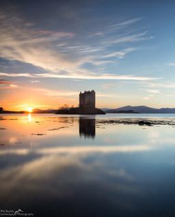 Castle Stalker Sunset