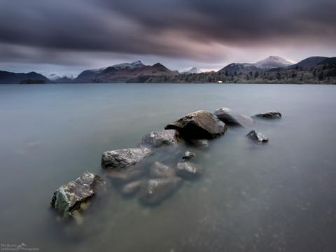Derwent Water Rocks Sunset.jpg
