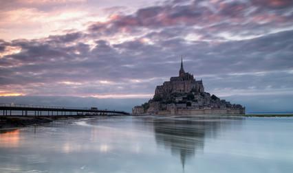 Mont Saint Michel Sunset