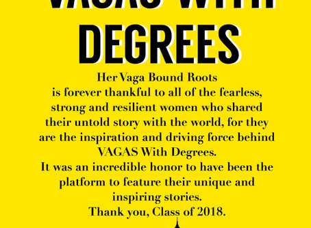 VAGAS WITH DEGREES, Class of 2018