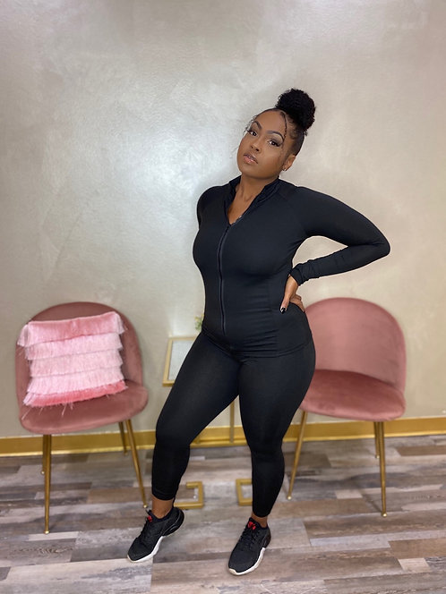 'Back To The Baesics' Two Piece (Black)