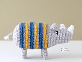 Ray the Rhino Free Crochet Pattern