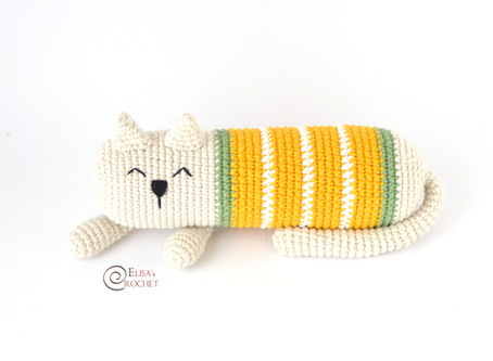 Arturo the Sleepy Cat Free Crochet Pattern