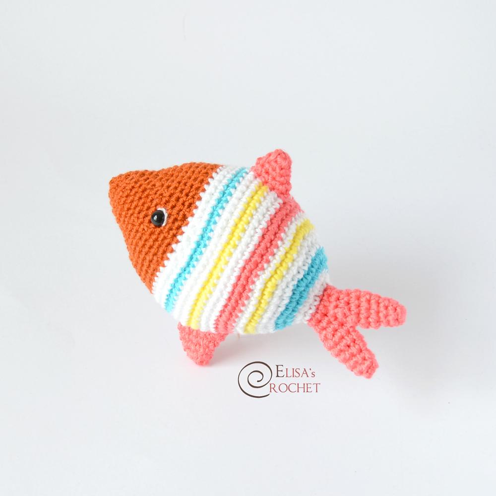 Amigurumi Fish free crochet pattern | Asmi Handmade | 1000x1000