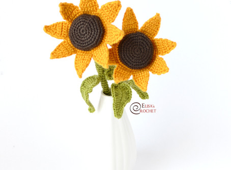 Sunflowers Free Crochet Pattern