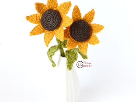 Sunflowers Free Crochet Pattern