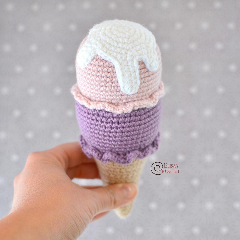 Amigurumi Ice Cream Cone Crochet Pattern ~ Crafty Kitty Crochet | 1000x1000