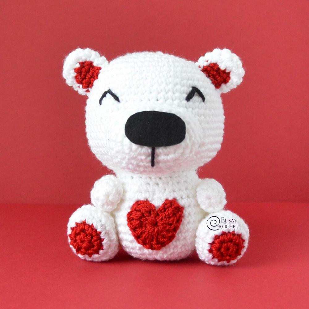 Crochet Valentine Teddy Bears - Free Patterns - DIY 4 EVER | 1000x1000