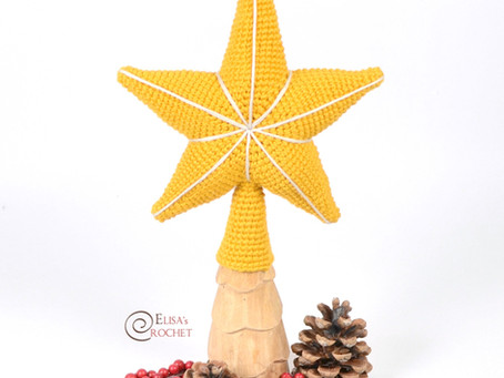 Star Tree Topper Free Crochet Pattern