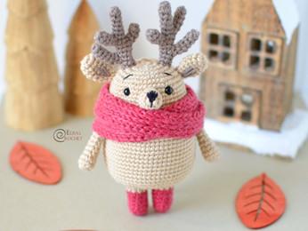Theo the Reindeer Free Crochet Pattern