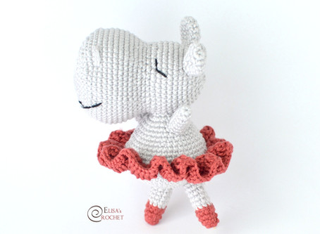 Irina the Hippo Ballerina Free Crochet Pattern