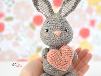 Valentine Bunny Free Crochet Pattern
