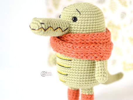 Kyle the Crocodile Free Crochet Pattern