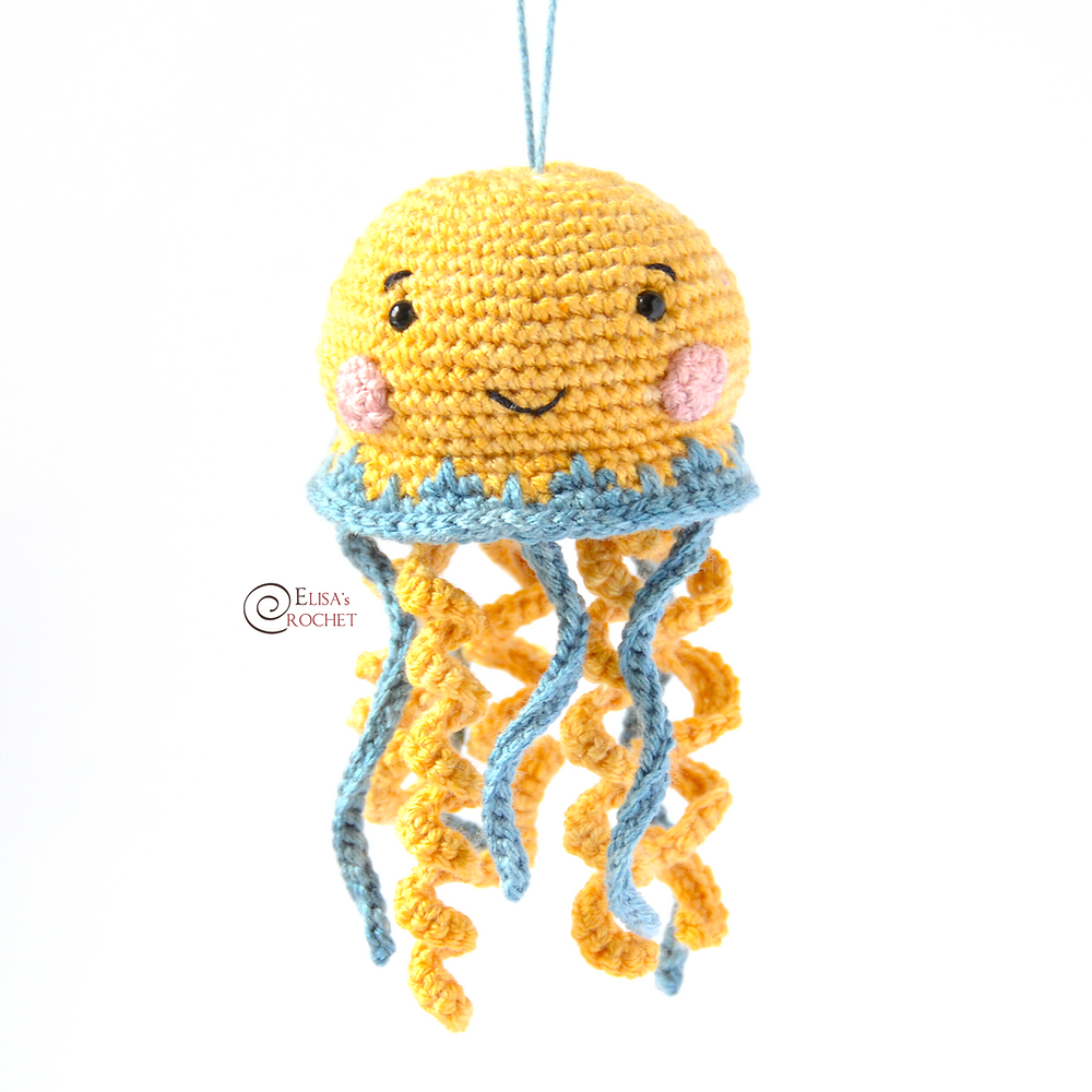 How to Crochet an Amigurumi Jellyfish for Beginners and Advanced ... | 1000x1000