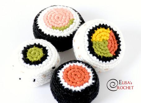Sushi Rolls Free Crochet Pattern