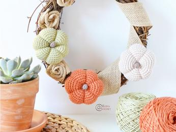 Pumpkin Wreath Free Crochet Pattern