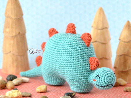 Kevin the Dino Free Crochet Pattern