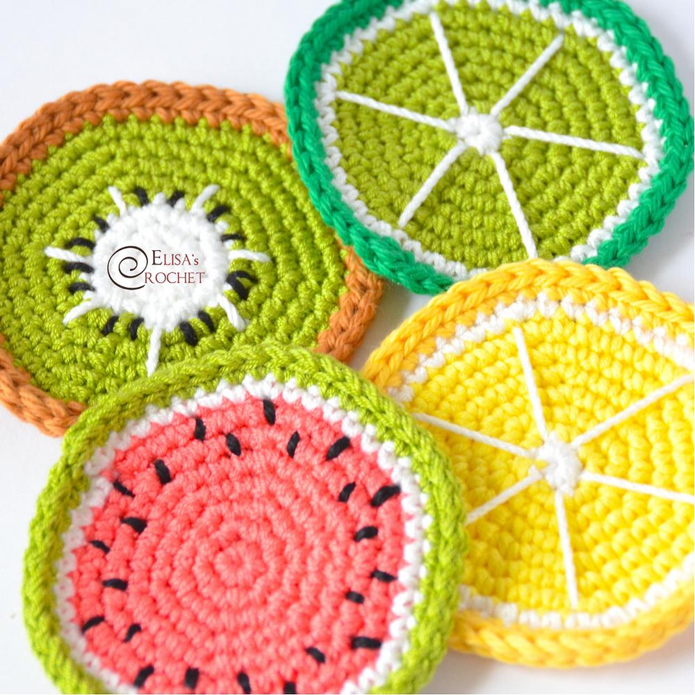 Crochet Amigurumi Fruits Free Patterns | 1000x1000