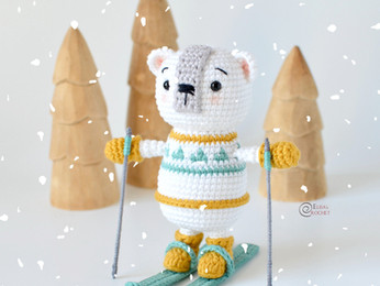 Miki the Polar Bear Free Crochet Pattern