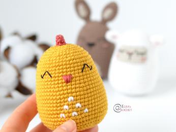 Chick Easter Egg Free Crochet Pattern