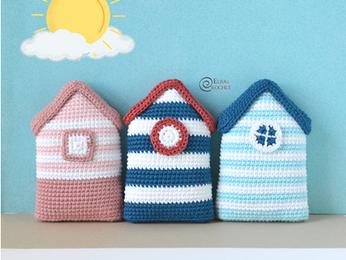 Beach Cabins Free Crochet Pattern