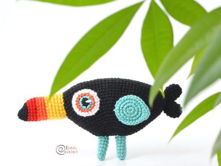 Louie the Toucan Free Crochet Pattern