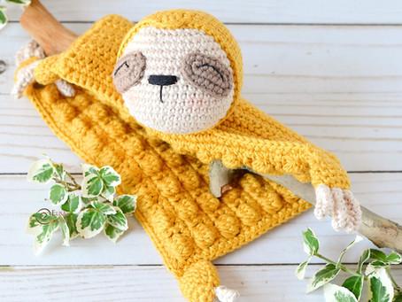 Sloth Security Blanket Free Crochet Pattern
