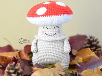 Victor the Mushroom Free Crochet Pattern
