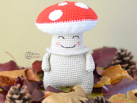 Victor the Mushroom Free Crochet Pattern