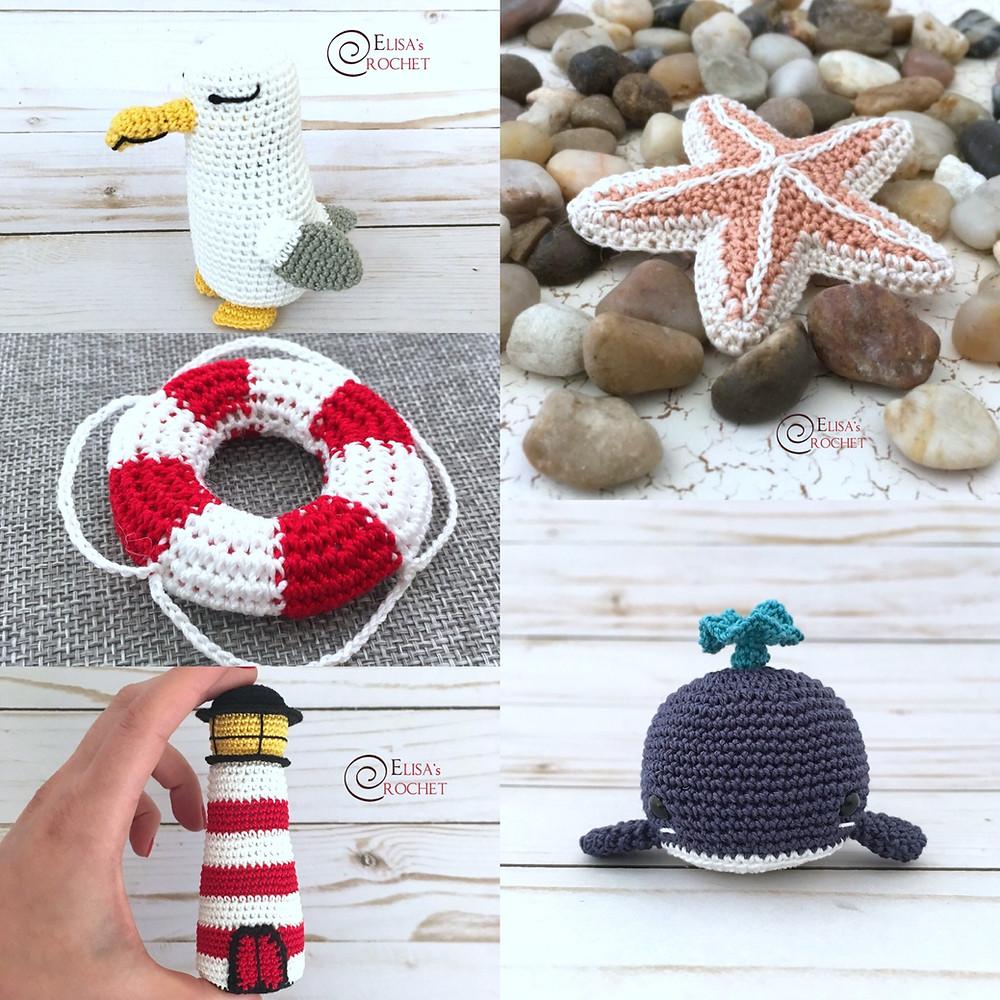 Blue Whale Free Crochet Pattern by Elisa's Crochet | 1000x1000