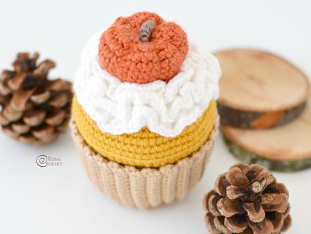 Fall Cupcake Free Crochet Pattern