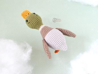 Miles the Mallard Free Crochet Pattern
