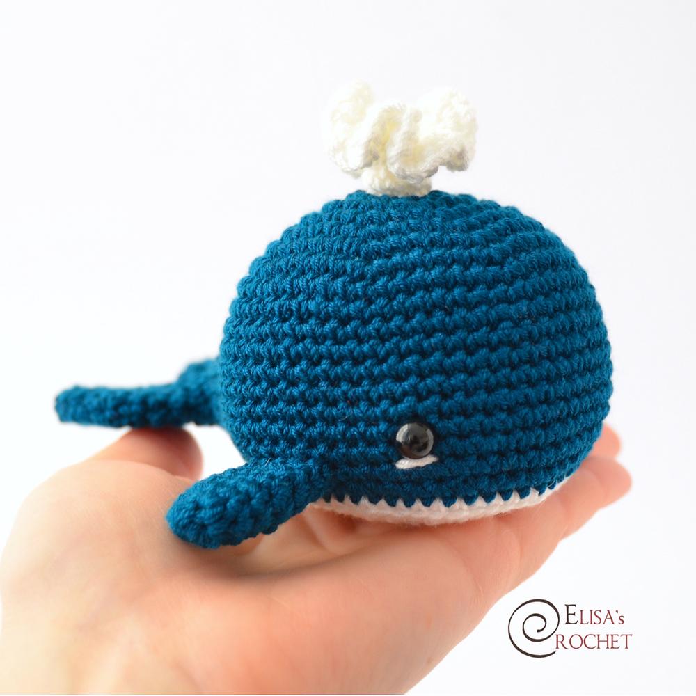 How to crochet a whale amigurumi - Flauscheinhorn | 1000x1000