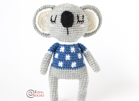 Magnum the Koala Free Crochet Pattern
