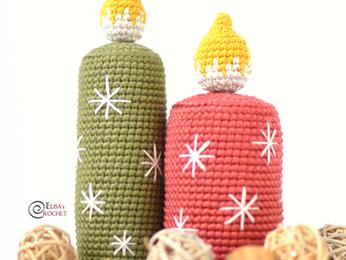Christmas Candles Free Crochet Pattern