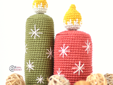 Christmas Candles Free Crochet Pattern