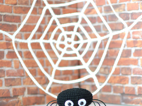 Hector the Spider And His Spiderweb Free Crochet Pattern