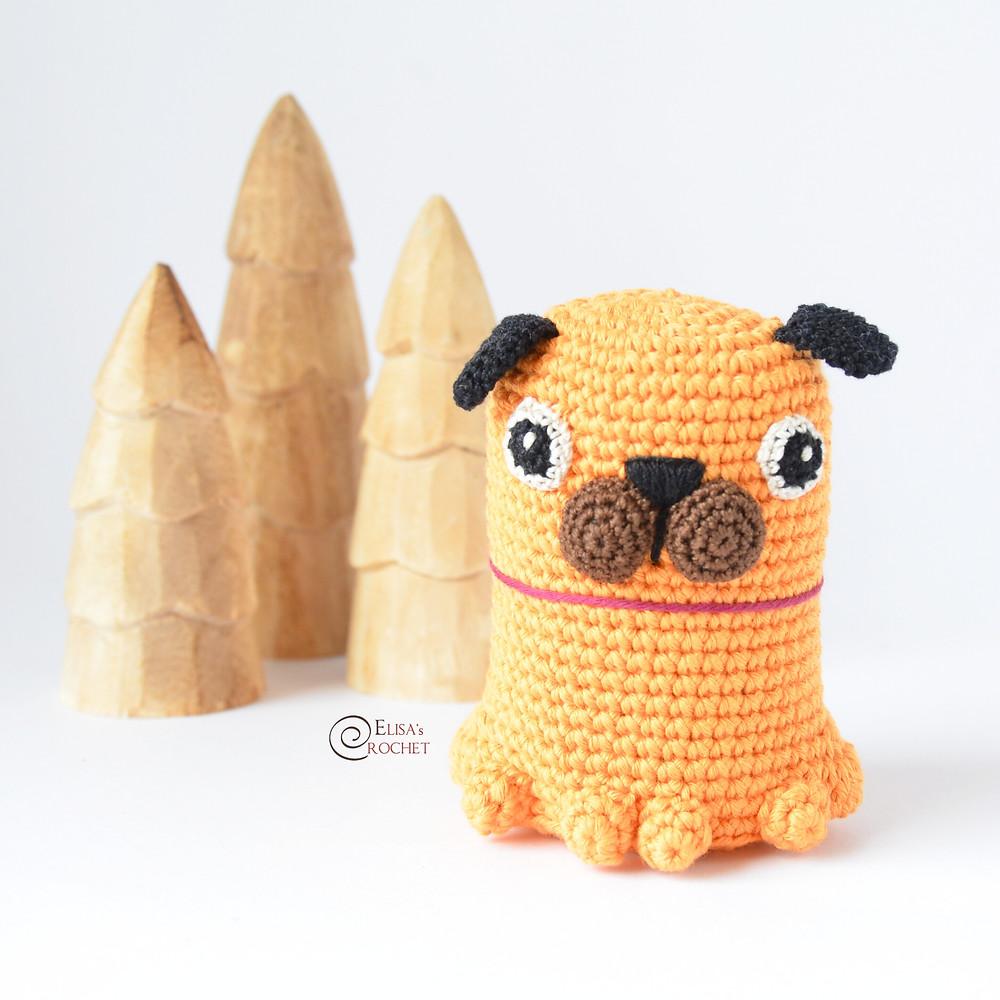 Baby Pug Dog amigurumi pattern – EN – Free Amigurumi | 1000x1000