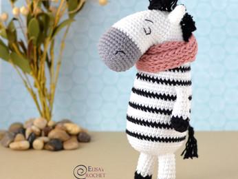 Zelda the Zebra Free Crochet Pattern