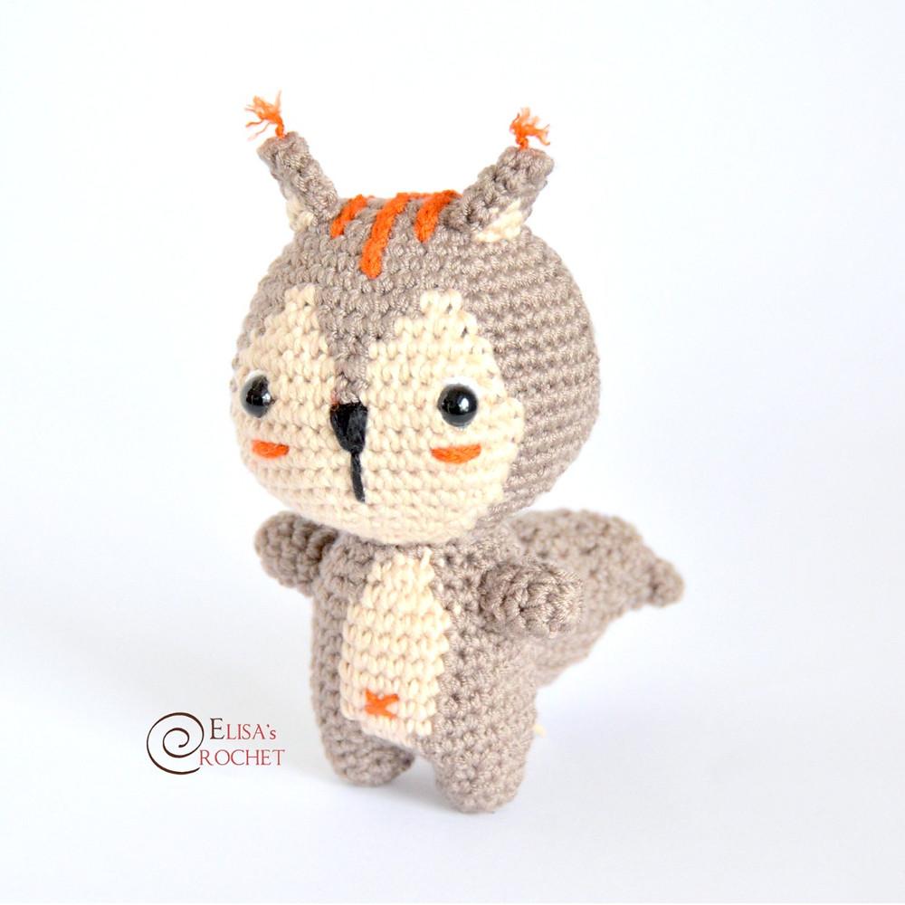 Amigurumi Squirrel Free Pattern - amigurumi.myeatbook.com | 1000x1000