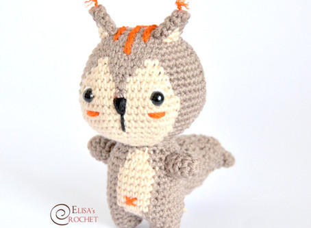 Baby Squirrel Free Crochet Pattern