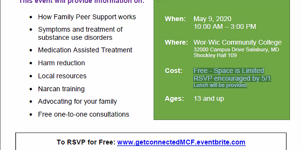 Cancelled MCF Get Connected (May)