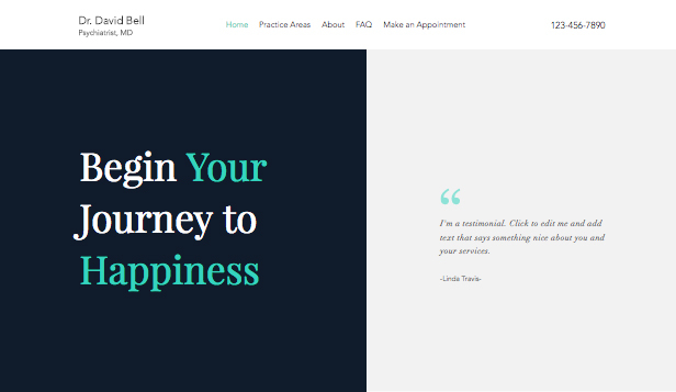Health website templates – Psychiatrist